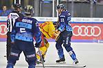 Brandon Mashinter (Nr.53 - ERC Ingolstadt) und Marc-Anthony Zanetti (Nr.51 - Duesseldorfer EG) leisten sich einen kleinen Fight beim Spiel in der DEL, ERC Ingolstadt (dunkel) - Duesseldorfer EG (hell).<br /> <br /> Foto © PIX-Sportfotos *** Foto ist honorarpflichtig! *** Auf Anfrage in hoeherer Qualitaet/Aufloesung. Belegexemplar erbeten. Veroeffentlichung ausschliesslich fuer journalistisch-publizistische Zwecke. For editorial use only.