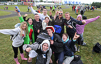 08/07/'10 A group of fans from Cork pictured arriving at Punchestown, Co. Kildare this evening for the start of the Oxegen Festival 2010...Picture Colin Keegan, Collins, Dublin