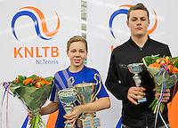 March 15, 2015, Netherlands, Rotterdam, TC Victoria, NOJK, Winner boys14 years Lodewijk Weststrate and runner up Deney Wasserman (R)<br /> Photo: Tennisimages/Henk Koster