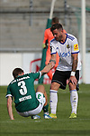 19.09.2020, Dietmar-Scholze-Stadion an der Lohmuehle, Luebeck, GER, 3. Liga, VfB Luebeck vs 1.FC Saarbruecken <br /> <br /> im Bild / picture shows <br /> Endstand 1:1 Sebastian Hertner (VfB Luebeck) am Boden wird von Dren Feka (VfB Luebeck) getroestet<br /> <br /> DFB REGULATIONS PROHIBIT ANY USE OF PHOTOGRAPHS AS IMAGE SEQUENCES AND/OR QUASI-VIDEO.<br /> <br /> Foto © nordphoto / Tauchnitz