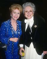 Debbie Reynolds Celeste Holm 1982, Photo By John Barrett/PHOTOlink