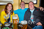Enjoying the evening in Sean Og's on Saturday, l to r: Helen Enright, Peter Kennedy and Maurice Lenihan.