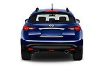 Straight rear view of a 2018 Infiniti QX70 S 5 Door SUV stock images