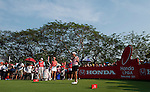 CHON BURI, THAILAND - FEBRUARY 20:  Yani Tseng of Taiwan tees off on the 18th hole during day four of the LPGA Thailand at Siam Country Club on February 20, 2011 in Chon Buri, Thailand.  Photo by Victor Fraile / The Power of Sport Images