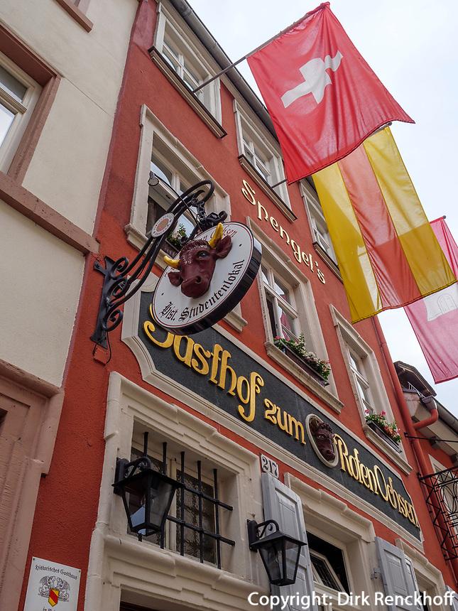 Gasthof zum roten Ochsen, Heidelberg, Baden-Württemberg, Deutschland, Europa<br /> Gasthof zum roten Ochsen, Heidelberg, Baden-Wuerttemberg, Germany, Europe