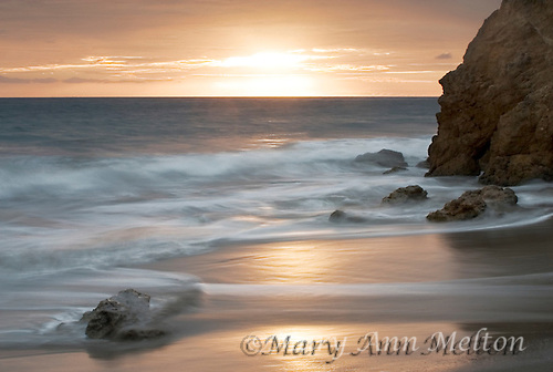 Sunset at El Matador State Beach, Malibu, California