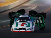Jul 28, 2017; Sonoma, CA, USA; NHRA funny car driver Jim Campbell during qualifying for the Sonoma Nationals at Sonoma Raceway. Mandatory Credit: Mark J. Rebilas-USA TODAY Sports