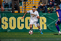 5 October 2019: University of Vermont Catamount Midfielder Frosti Brynjólfsson, a Freshman from Akureyri, Iceland, in action against University at Albany Great Danes, on Virtue Field in Burlington, Vermont. The Catamounts fell to the visiting Danes 3-1 in America East, Division 1 play. Mandatory Credit: Ed Wolfstein Photo *** RAW (NEF) Image File Available ***