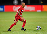 LAKE BUENA VISTA, FL - JULY 26: Auro of Toronto FC dribbles the ball during a game between New York City FC and Toronto FC at ESPN Wide World of Sports on July 26, 2020 in Lake Buena Vista, Florida.