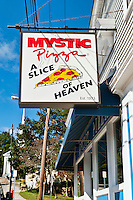 Famous mystic Pizza shop, Mystic, RI, Rhode Island, Connecticut, CT