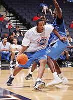 C/F Kenny Kadji (Bradenton, FL / IMG Academy) moves the ball during the NBA Top 100 Camp held Friday June 22, 2007 at the John Paul Jones arena in Charlottesville, Va. (Photo/Andrew Shurtleff)