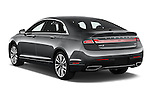 Car pictures of rear three quarter view of 2018 Lincoln MKZ Hybrid-Select 4 Door Sedan Angular Rear