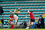 Micheal  Leane, Kerry in action against /Marc Fisher, Down during the National hurling league between Kerry v Down at Austin Stack Park, Tralee on Sunday.
