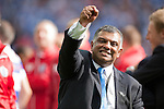 Queens Park Rangers 1 Derby County 0, 24/05/2014. Wembley Stadium, Championship Play Off Final. QPR Chairman Tony Fernandes celebrates after the Championship Play-Off Final between Queens Park Rangers and Derby County from Wembley Stadium.  Photo by Simon Gill.
