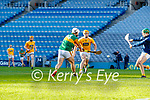 Mickey Boyle, Kerry scores his side's only goal during the Joe McDonagh Cup Final match between Kerry and Antrim at Croke Park in Dublin.