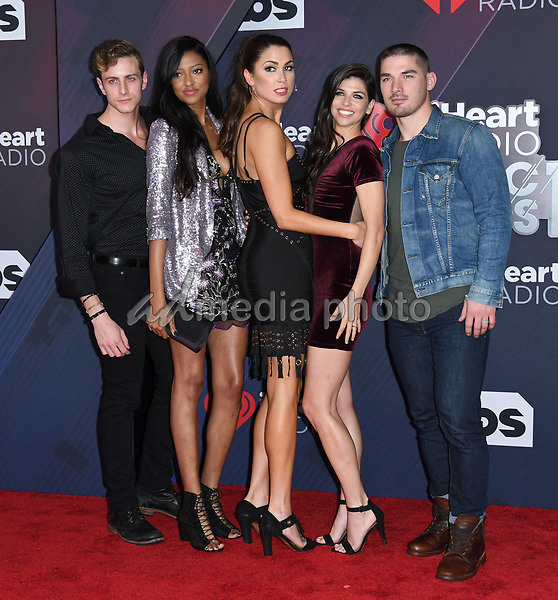 "11 March 2018 - Inglewood, California - Cast of ""Music City"". 2018 iHeart Radio Awards held at The Forum. Photo Credit: Birdie Thompson/AdMedia"