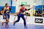 Hong Kong (HKG) vs Malaysia (MYS) during the Hong Kong Tri-Nations Netball Tournament 2017 match at Kowloon Park Sports Centre on 18 March 2017 in Hong Kong, Hong Kong. Photo by Marcio Rodrigo Machado / Power Sport Images