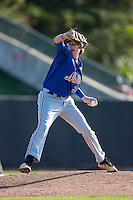 Hank Nichols (30) of JL Mann High School in Greenville, South Carolina playing for the New York Mets scout team at the South Atlantic Border Battle at Doak Field on November 2, 2014.  (Brian Westerholt/Four Seam Images)