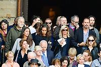 Jean-Jacques DEBOUT - …ric NAULLEAU - ObsËques de MIREILLE DARC en l'Èglise Saint-Sulpice - 01/09/2017 - Paris, France