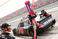 19 June, 2011: Regan Smith pits during the 43rd Annual Heluva Good! Sour Cream Dips 400 at Michigan International Speedway in Brooklyn, Michigan.