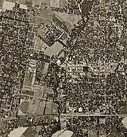 historical aerial photograph Chico, California, 1947