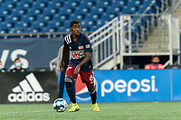 FOXBOROUGH, MA - AUGUST 7: Maciel #6 of New England Revolution II looks to pass during a game between Orlando City B and New England Revolution II at Gillette Stadium on August 7, 2020 in Foxborough, Massachusetts.