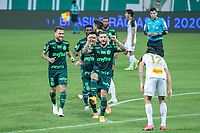 São Paulo (SP), 13/09/2020 - Palmeiras-Sport - Zé Rafael, do Palmeiras comemora seu gol, em partida contra o Sport, válida pela 10ª rodada do Campeonato Brasileiro 2020, no Allianz Parque, em São Paulo (SP), neste domingo (13).