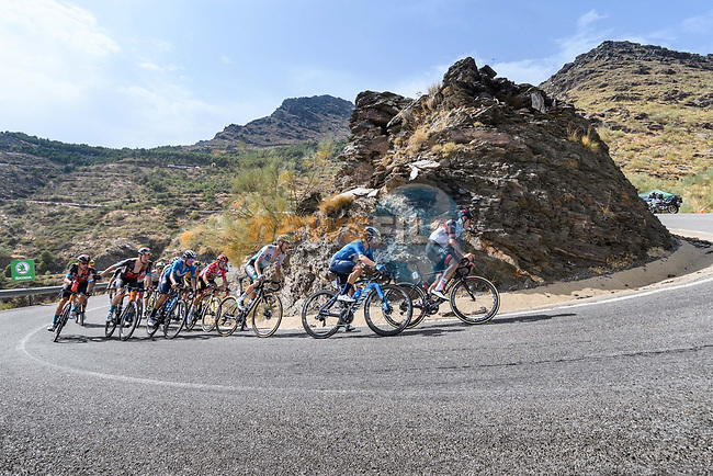 The GC group climb Alto de Velefique during Stage 9 of La Vuelta d'Espana 2021, running 188km from Puerto Lumbreras to Alto de Velefique, Spain. 22nd August 2021.     <br /> Picture: Cxcling | Cyclefile<br /> <br /> All photos usage must carry mandatory copyright credit (© Cyclefile | Cxcling)
