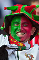 Portugal fan in the stands before game against Ivory Coast