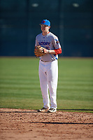 Hunter Sherrard (15) of Regis Jesuit High School in Aurora, Colorado during the Baseball Factory All-America Pre-Season Tournament, powered by Under Armour, on January 13, 2018 at Sloan Park Complex in Mesa, Arizona.  (Mike Janes/Four Seam Images)