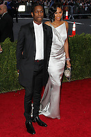 "NEW YORK CITY, NY, USA - MAY 05: ASAP Rocky, Chanel Iman at the ""Charles James: Beyond Fashion"" Costume Institute Gala held at the Metropolitan Museum of Art on May 5, 2014 in New York City, New York, United States. (Photo by Xavier Collin/Celebrity Monitor)"