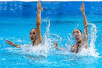 INUI - YOSHIDA Japan JPN<br /> Gwangju South Korea 12/07/2019<br /> Artistic Swimming Duet Technical Preliminaries<br /> 18th FINA World Aquatics Championships<br /> Yeomju Gymnasium <br /> Photo © Giorgio Scala / Deepbluemedia / Insidefoto