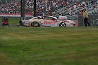 May 13, 2011; Commerce, GA, USA: NHRA pro stock driver Greg Anderson during qualifying for the Southern Nationals at Atlanta Dragway. Mandatory Credit: Mark J. Rebilas-