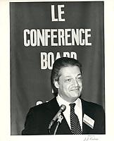 Michel Belanger au conference board, le 9 septembre 1980<br /> <br /> <br /> PHOTO :  Agence Quebec Presse