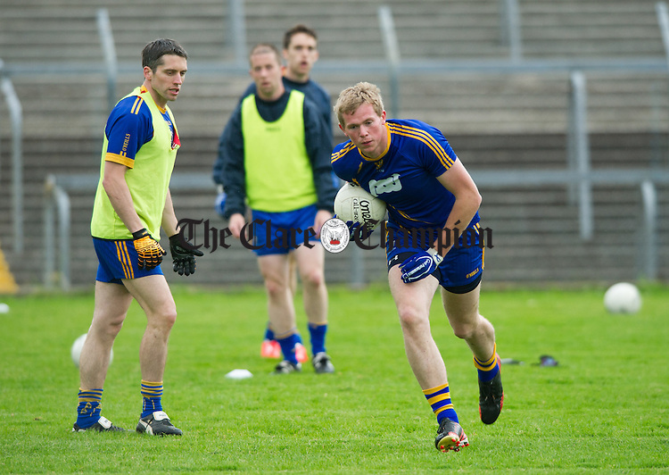 Clare's Keith O Connor at training in preparation for their forthcoming SFC Munster quarter final against Waterford. Photograph by John Kelly.