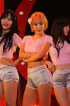 AOA, Aug 1, 2015 : South Korean K-Pop girl group AOA performs during a fan club event in Tokyo on August 1, 2015. (Photo by Pasya/AFLO)