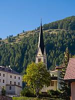 Kirche in Santa Maria, Val Müstair-Münstertal, Engadin, Graubünden, Schweiz, Europa<br /> Church in Santa Maria, Val Müstair-Münster Valley, Engadine, Grisons, Switzerland