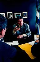 Municipal Affairs Minister Paul Begin in 1999 interview, in Quebec City<br /> Entrevue avec Paul BÈgin, Ministre des Affaires Municipales, en 1999 ‡ QuÈbec