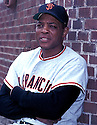 San Francisco Giants Willie Mays(24) portrait from his career. Willie Mays played for 22 years with 2 different teams and won the National League MVP in 1954 and 1965  and was inducted to the Baseball Hall of Fame in 1979.David Durochik/SportPics