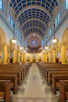 The beautiful interior of St. Mary's Church, one of the churches in the Parish of the Resurrection, in Jersey City, New Jersey