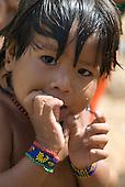 Pará State, Brazil. Aldeia Ipixuna (Araweté). Girl.