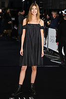 """Eve Delf<br /> arriving for the premiere of """"The White Crow"""" at the Curzon Mayfair, London<br /> <br /> ©Ash Knotek  D3488  09/03/2019"""