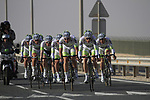 Project IT4i team in action during the 2nd Stage of the 2012 Tour of Qatar an 11.3km team time trial at Lusail Circuit, Doha, Qatar. 6th February 2012.<br /> (Photo Eoin Clarke/Newsfile)
