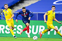 24th March 2021; Stade De France, Saint-Denis, Paris, France. FIFA World Cup 2022 qualification football; France versus Ukraine;  MBAPPE KYLIAN (France) breaks past Zabarnyi and Karavayev of Ukraine