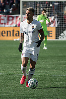 FOXBOROUGH, MA - MARCH 7: Francisco Calvo #5 of Chicago Fire during a game between Chicago Fire and New England Revolution at Gillette Stadium on March 7, 2020 in Foxborough, Massachusetts.