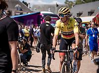 Yellow Jersery Greg Van Avermaet (BEL/BMC) pre race. <br /> <br /> Stage 9: Arras Citadelle > Roubaix (154km)<br /> <br /> 105th Tour de France 2018<br /> ©kramon