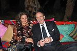 GIUSEPPE E NATALIA AYALA<br /> FESTA DI PRESENTAZIONE DEL CALENDARIO DI MEO -  <br /> PALAZZO KADIRI  MARRAKECH 2010
