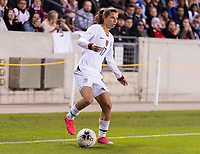 HOUSTON, TX - JANUARY 31: Tobin Heath #17 of the United States dribbles during a game between Panama and USWNT at BBVA Stadium on January 31, 2020 in Houston, Texas.