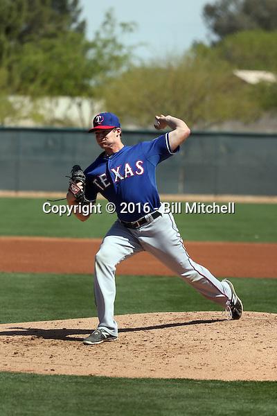 Wes Benjamin - Texas Rangers 2016 spring training (Bill Mitchell)