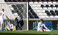 SWANSEA, WALES - MARCH 25: as Referee A Coggins blows the final whistle of the Premier League International Cup Semi Final match between Swansea City and Porto at The Liberty Stadium on March 25, 2017 in Swansea, Wales. (Photo by Athena Pictures)Athena Pictures)